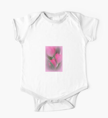 A Vision Of Pink Tulips One Piece - Short Sleeve