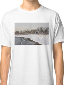 The Snow Just Stopped - a Winter Beach on Lake Ontario Classic T-Shirt