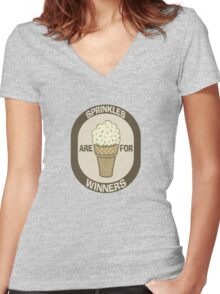 Sprinkles are for Winners  Women's Fitted V-Neck T-Shirt