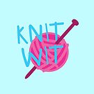 KNIT WIT with ball of wool by jazzydevil