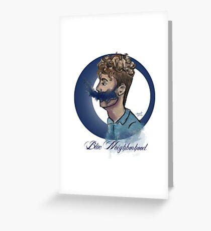 blue neighborhood Greeting Card