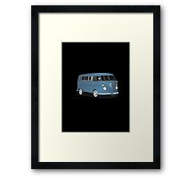 VW Bus Transporter Blue Framed Print