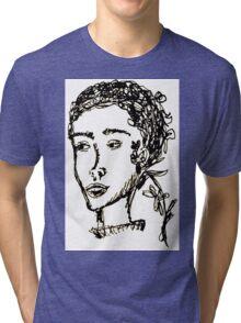 Rodarte Floral Lady 1 Tri-blend T-Shirt
