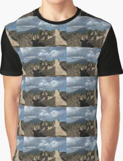 Mount Vesuvius Volcano, Towering Over the Pompeii Ruins Graphic T-Shirt