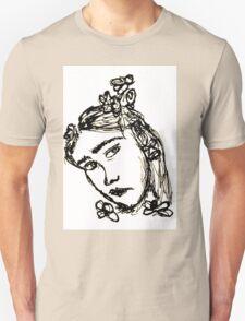 Rodarte Floral Lady 3 Unisex T-Shirt