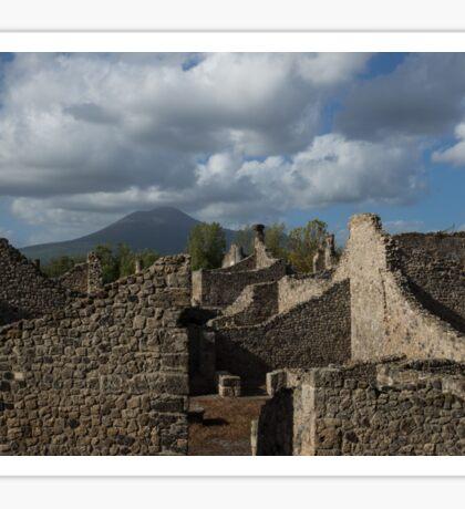 Vesuvius, Towering Over the Pompeii Ruins Sticker