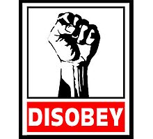 Disobey Revolution Photographic Print