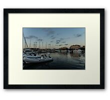 As the Evening Gently Comes - Ortygia, Syracuse, Sicily Grand Harbor  Framed Print