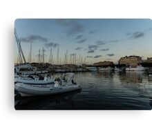 As the Evening Gently Comes - Ortygia, Syracuse, Sicily Grand Harbor  Canvas Print
