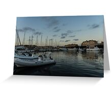 As the Evening Gently Comes - Ortygia, Syracuse, Sicily Grand Harbor  Greeting Card