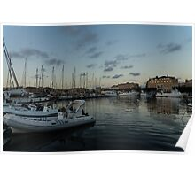 As the Evening Gently Comes - Ortygia, Syracuse, Sicily Grand Harbor  Poster
