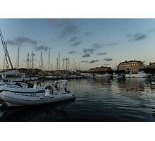 As the Evening Gently Comes - Ortygia, Syracuse, Sicily Grand Harbor  Photographic Print