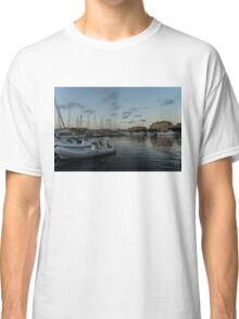 As the Evening Gently Comes - Ortygia, Syracuse, Sicily Grand Harbor  Classic T-Shirt