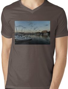 As the Evening Gently Comes - Ortygia, Syracuse, Sicily Grand Harbor  Mens V-Neck T-Shirt