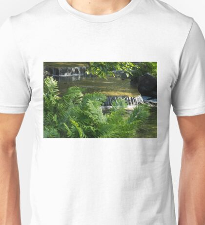 Listen to the Babbling Brook - Green Summer Zen Unisex T-Shirt