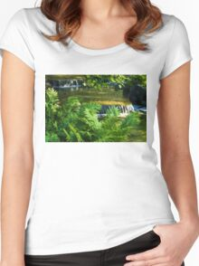 Listen to the Babbling Brook - Green Summer Fun Impressions Women's Fitted Scoop T-Shirt