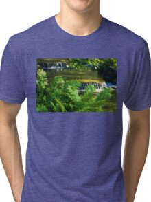 Listen to the Babbling Brook - Green Summer Fun Impressions Tri-blend T-Shirt