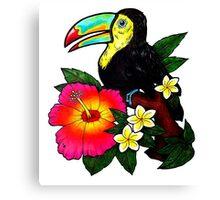 Tropical Toucan (Colour) Canvas Print