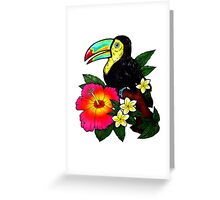Tropical Toucan (Colour) Greeting Card