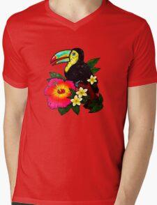 Tropical Toucan (Colour) Mens V-Neck T-Shirt