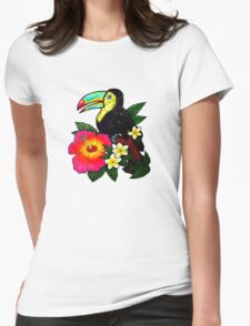 Tropical Toucan (Colour) Womens Fitted T-Shirt