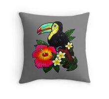 Tropical Toucan (Colour) Throw Pillow