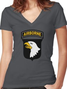 101st Airborne Women's Fitted V-Neck T-Shirt