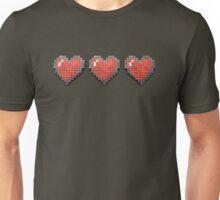 3D pixel Hearts Unisex T-Shirt