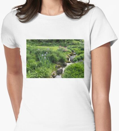 The Green Magic of Summer - Miniature Brook in the Garden Womens Fitted T-Shirt