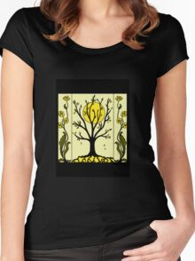 Art Deco - Tree Women's Fitted Scoop T-Shirt