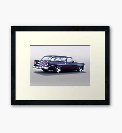 1956 Chevrolet Nomad Wagon Framed Print