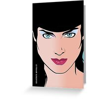 Pop Art Illustration of Beautiful Pop Art Woman Erin Greeting Card