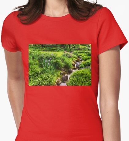 The Green Magic of Summer - a Luscious Garden Womens Fitted T-Shirt