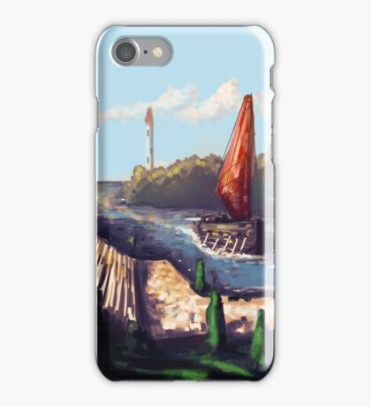 River Temple iPhone Case/Skin