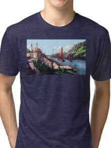 River Temple Tri-blend T-Shirt