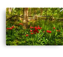 Untamed Tulip Forest - Impressions Of Spring Canvas Print