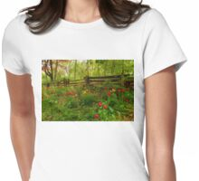 Dreamy Forest With Tulips - Impressions Of Spring Womens Fitted T-Shirt