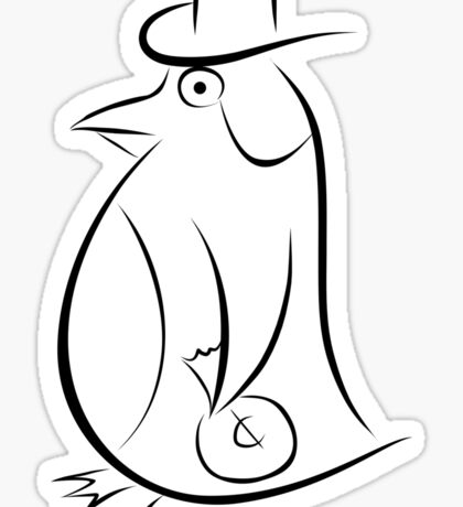 Evil Penguin - Black Sticker