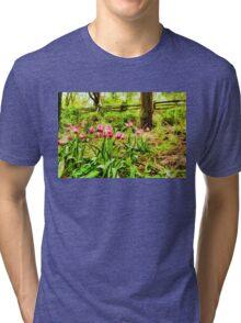 Dreamy Tulip Garden - Impressions Of Spring Tri-blend T-Shirt