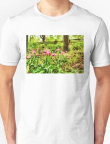 Dreamy Tulip Garden - Impressions Of Spring Unisex T-Shirt