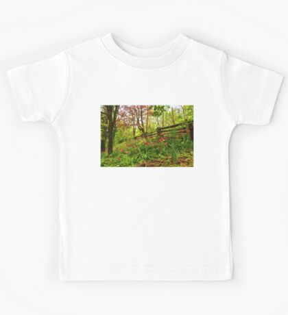 Fresh and Colorful Hillside - Impressions Of Spring Kids Tee