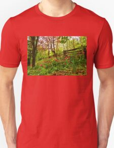 Fresh and Colorful Hillside - Impressions Of Spring Unisex T-Shirt