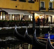 Where the Gondolas Go to Sleep - Bacino Orseolo, Venice, Italy Sticker