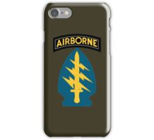 Airborne Army Special Forces Insignia iPhone Case/Skin