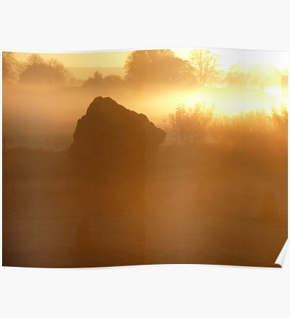 Avebury Orange Fog Poster