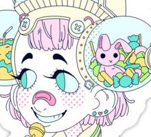 sweet machine girl Sticker