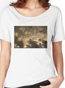 Phenomenal Sky - Extraordinary Mammatus Clouds at Sunset Women's Relaxed Fit T-Shirt