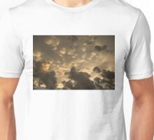 Phenomenal Sky - Extraordinary Mammatus Clouds at Sunset Unisex T-Shirt