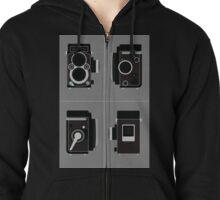 Rolleiflex Camera Zipped Hoodie