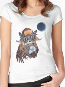 Owl mother Women's Fitted Scoop T-Shirt